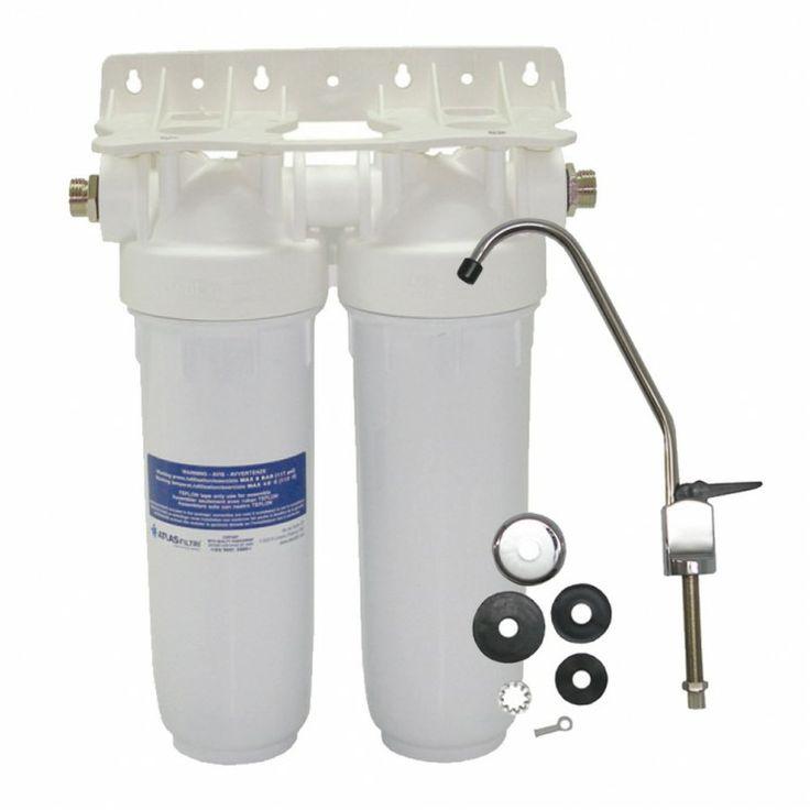 Φίλτρο νερού άνω πάγκου Atlas Filtri DP DUO με Βρυσάκι