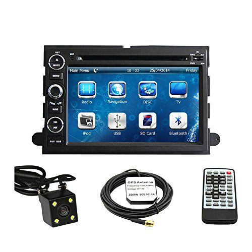 Special Offers - Car GPS Navigation System for Ford Fusion 2006-2009 / Ford Explorer 2006-2010 / Ford Mustang 2005-2009 / Ford F150 2004-2010/ F250 F350 2005-2014 / F450 2008-2013/ Ford Focus 2004-2007 / Ford Edge 2007-2010 / Ford Expedition 2007-2014 / Ford Taurus 2008 2009 Double Din Car Stereo DVD Player 7 Inch LCD Touchscreen TFT Monitor In-dash DVD Video Receiver with Built-In Bluetooth TV Radio Support Factory Steering Wheel Control Free Rear View Camera  Free GPS Map of USA - In stock…