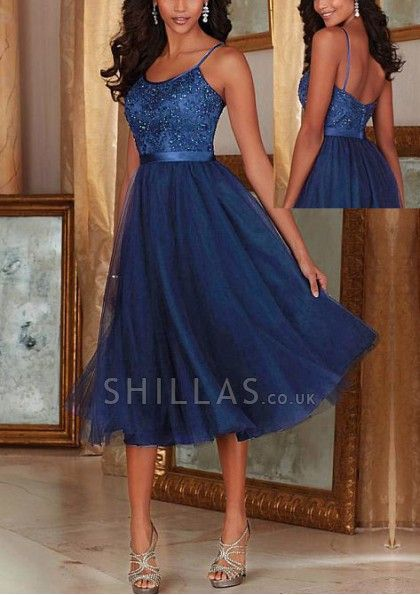 It brings you a shimmering look in this bridesmaid gown. The dress features spaghetti straps and natural waistline in a-line silhouette. Dazzling embroidery and beads work throughout the bodice. The defined waist with belt reveals an a-line skirt with a t - 1661149 - Bridesmaid Dresses