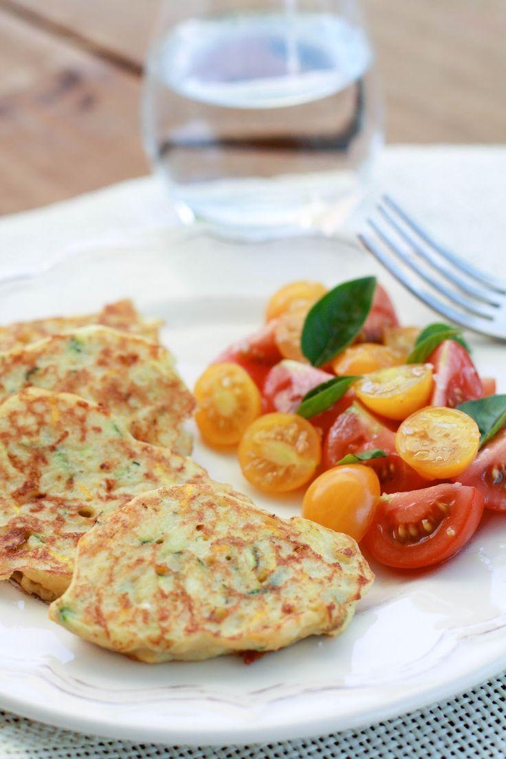 """Un """"Flo"""" de bonnes choses » Galettes de courgettes au quinoa, cheddar et moutarde"""