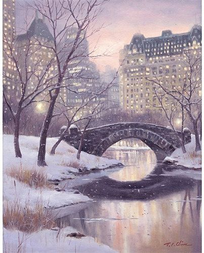 Central Park ▼Archival reproduction of original oil painting ▼Choose from 8x10, 12x15, 16x20 Inches  ▼Archival print printed with Epson Ultra
