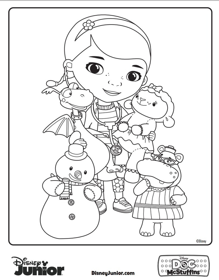 Have Your Little One Give Some Color To Doc McSutffins And Friends With This Printable