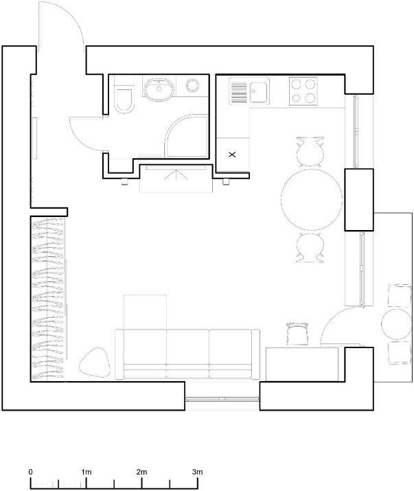 Планировка квартиры-студии