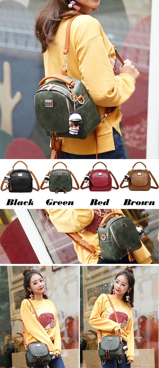 Retro Multi-function Small Square PU Shoulder Bag Handbag Backpack for big sale! #backpack #bag #retro #square