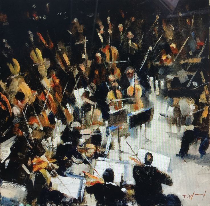 """Denver Orchestra: """"The Orchestra"""" Oil On Canvas By Trevor Waugh"""