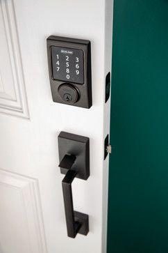 Schlage Century Touchscreen Deadbolt & Handleset in Aged Bronze - modern - windows and doors -  Schlage Locks