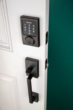 Schlage Century Touchscreen Deadbolt & Handleset in Aged Bronze - modern - windows and doors -  Schlage Locks