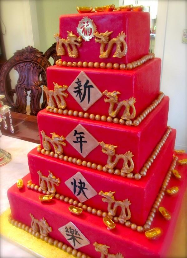 Chinese Th Birthday Cake