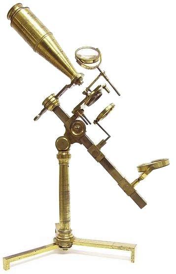 R,B. Bate, Jones Most Improved type microscope, c. 1825