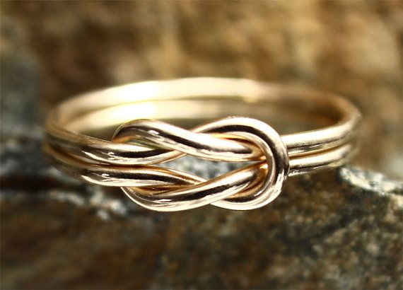 Love Knot Ring 14K Gold Filled Square Knot by MountainMetalcraft, $38.00