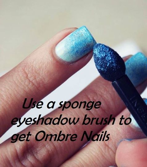 DIY #ombre #nails with FM Mineral pigment eye shadow ONLY £5 a pot and 12 colour choices (free p&p) Match your eyes to your nails & stand out !!
