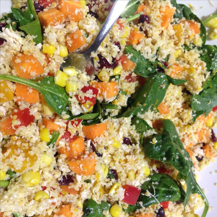 Sistermixin' Thermomix - Couscous Salad with Shredded Chicken