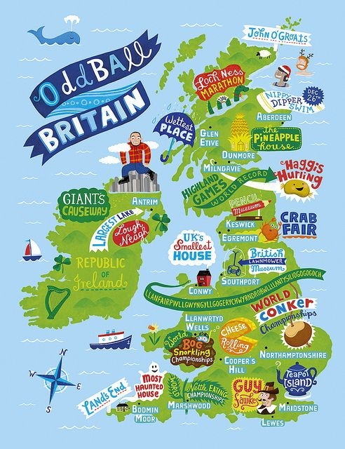 Linzie Hunter - Odd ball Britain map