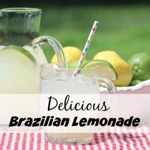 This quick and easy Brazilian lemonade recipe makes a great summer drink! It's refreshing, sweet, and creamy!