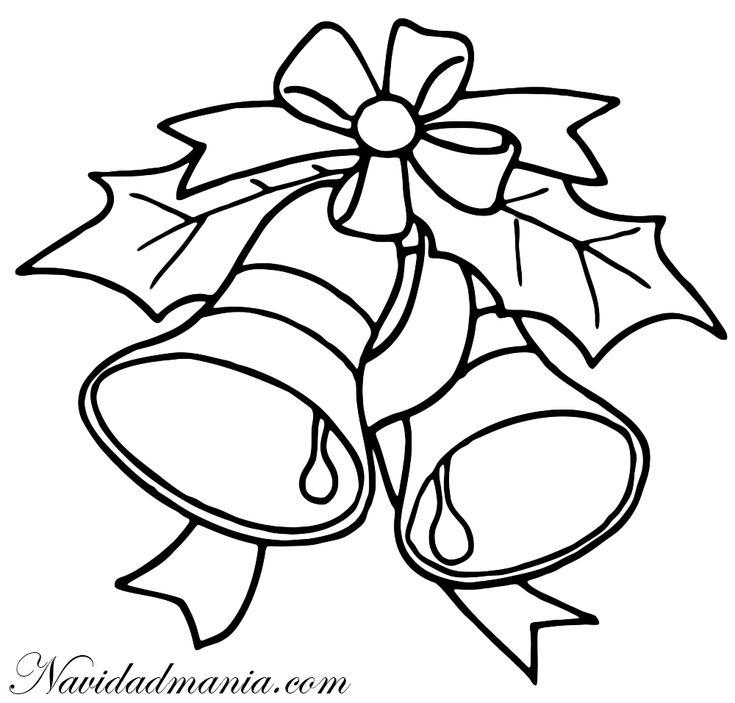 patrones para pintar de navidad | Campanas de Navidad para Colorear