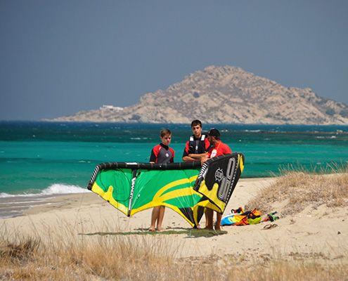 Kitesurfing Naxos Glyfada beach Greece