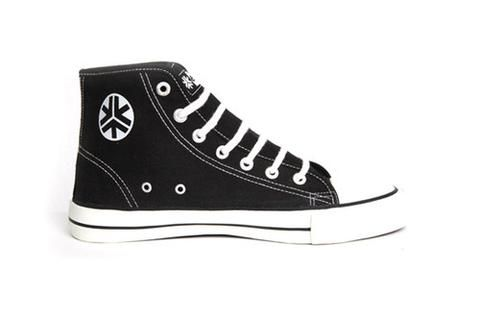 Organic Fairtrade Sneakers Hitops Black & White  #ethical #fashion  https://threadharvest.com.au/collections/all-mens-clothing