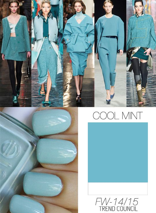 Must Have Fashion Colors in Women's Wear for Autumn/Winter 2014/2015 by Trend Council