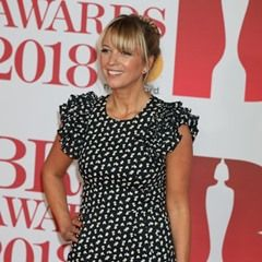 Sara Cox is seen arriving at the 2018 Brit Awards in London