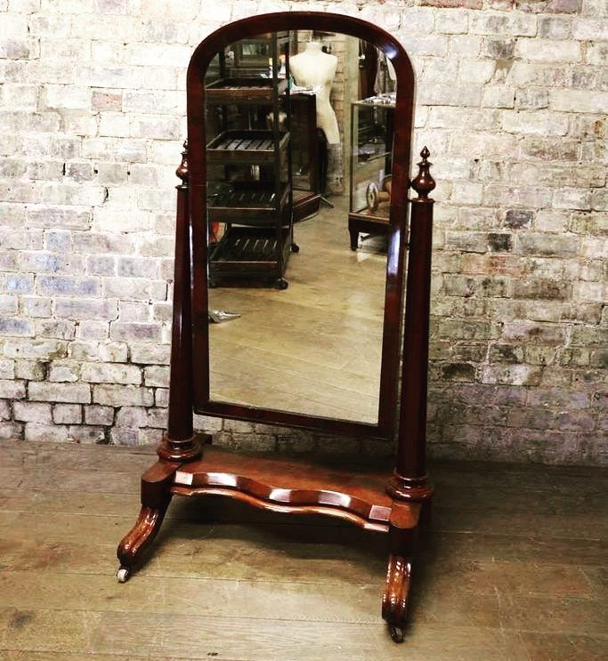 Beautiful Antique Victorian Mirror at D and A Binder | We have gorgeous mirrors at Binder's! This Victorian Mahogany Cheval Mirror is in lovely original condition and will look beautiful wherever it is placed - it would be fabulous in retail or a bedroom especially in a formalwear store. Email us at david@Dandabinder.co.uk for more information about our pieces or have a look at DandABinder.co.uk Selling Antiques or Antiques Atlas for more details.  #Decorative #Decoration #Mirrors #Mirror…