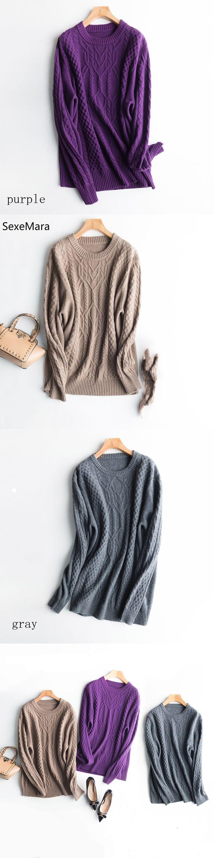 SexeMara Men's  Cashmere Sweaters Casual Winter O-neck Collar Diamond Block Plaid Aregle Cashmere Sweater