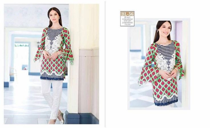 #Womens #Fashion #Pakistani #Designer #Suits #Haute #Couture for #work - #Masted #Shirt #White #Bottom #Embroidered #premium #lawn #Kurtis