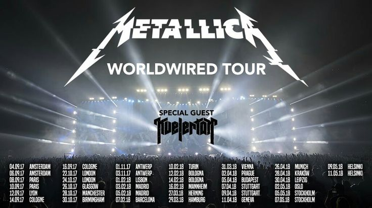 Metallica worldwired tour 2017-2018 #Metallica #Tour