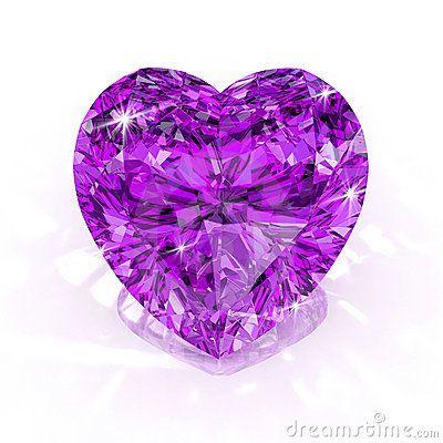 Diamond purple heart shape by Apttone, via Dreamstime