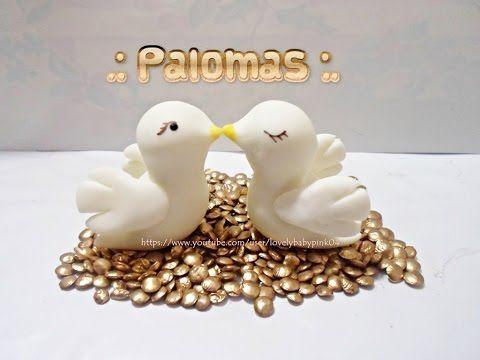COMO HACER PALOMAS PORCELANA FRIA - BODA - BAUTIZO- RECUERDOS FACILES - YouTube