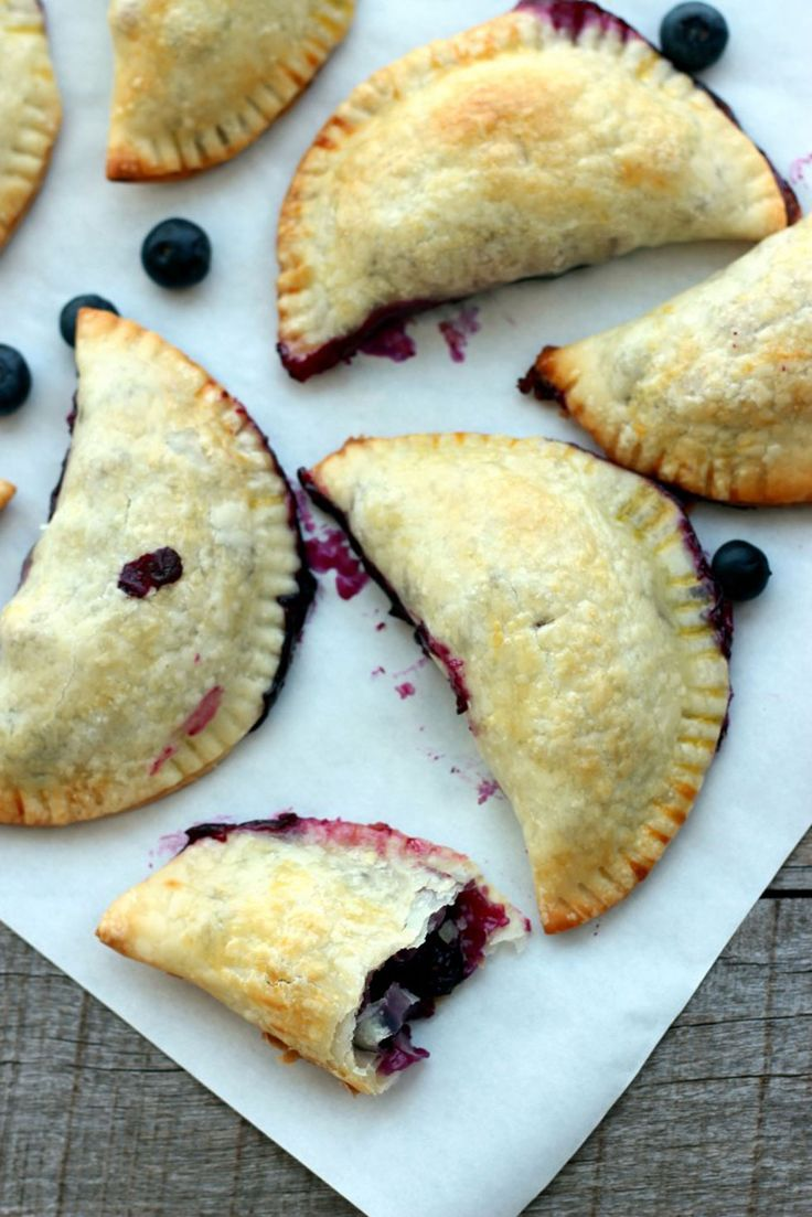 These hand pies are bursting at the seams with lemony blueberry filling.