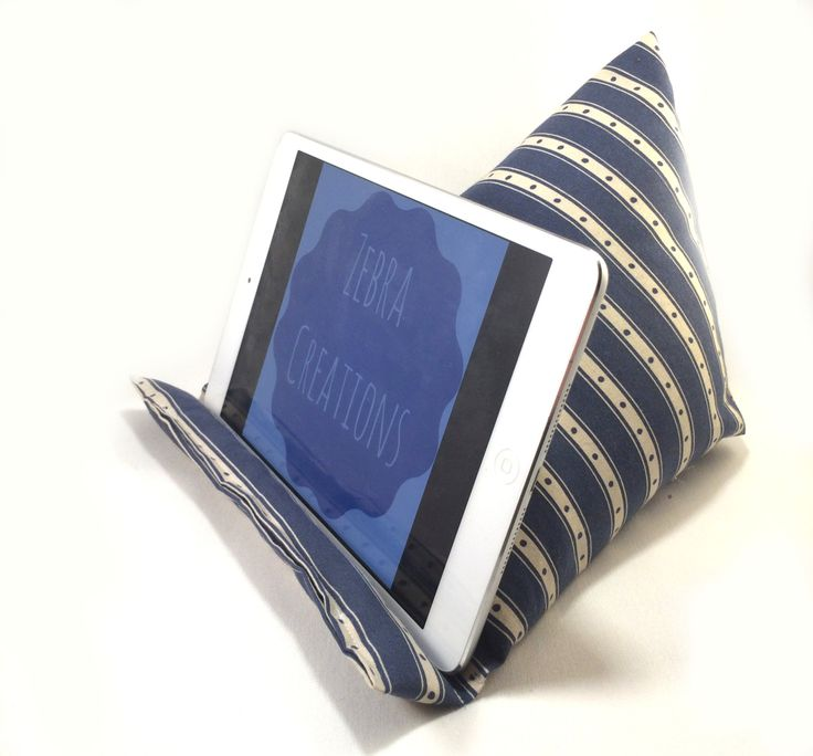 ipad cushion, ipad cushion stand, tablet cushion, tablet cushion stand, hudl accessory by ZebraCreationsUK on Etsy