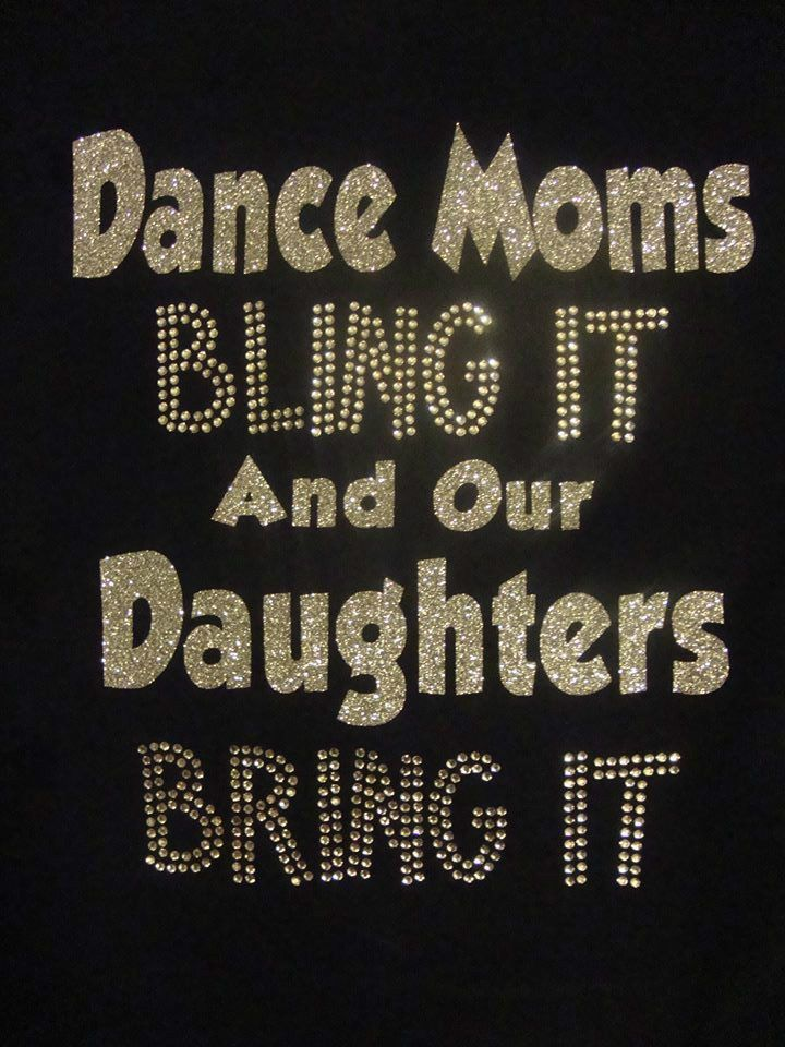 Custom Dance Mom, Bling It Bring It tee shirt, Silver Glitter & Rhinestones