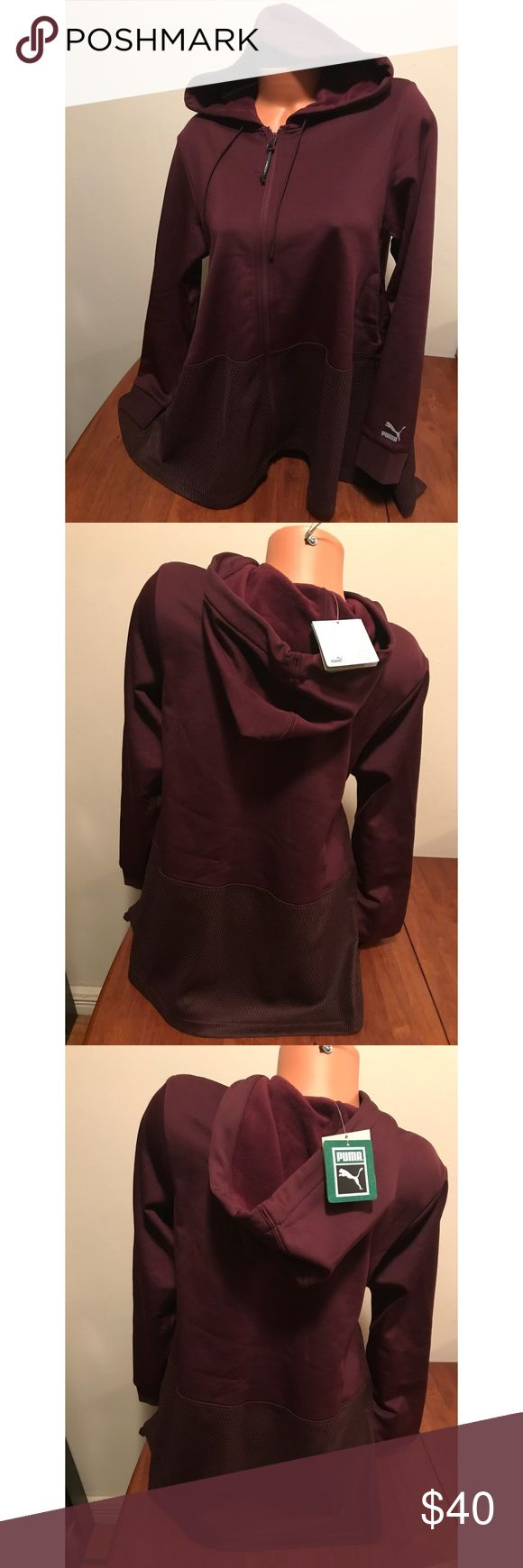 Puma Drapy Hoody Brand New with Tags - Ladies Puma Drapy Fullzip Hoody with Pockets  Color: Winetasting-Copper Size: M 🌷If interested please submit an offer, I will either accept or counter with my lowest🌷Happy Holidays 📦Ships Same Day before 12noon Puma Tops Sweatshirts & Hoodies