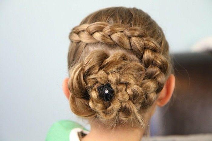 Jolie Coiffure Avec Tresse Sophistiquee Suggestion Tres Elegante Coiffure Tresse Enfant Coiffure Cheveux Long