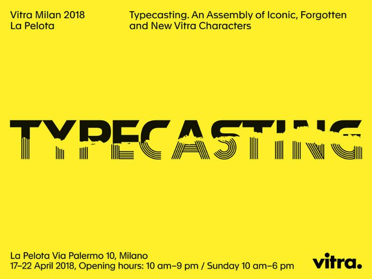 """Highlights of Vitra's """"Typecasting"""" Exhibit at Milan Design Week 2018 #MDW18 #Salonedelmobile2018 #typecasting http://covetedition.com/news/highlights-vitras-typecasting-exhibit-milan-design-week-2018/"""