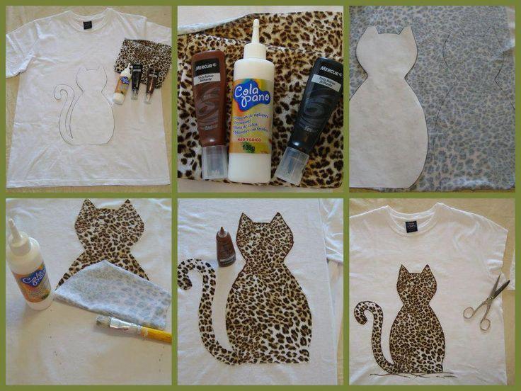 Aplique de tecido em camisetas