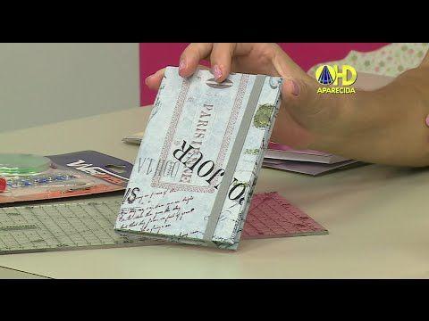 Vida com Arte   Porta Passaporte em cartonagem por Patrícia Godoi - 16 de Abril de 2015 - YouTube