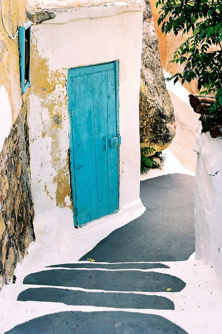 Blue Door in Anafiotika, Athens
