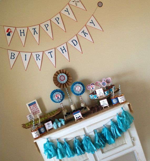 BRAVE inspired Party Pack - Princess Merida - Brave - Party Supplies - INSTANT DOWNLOAD on Etsy, $15.99