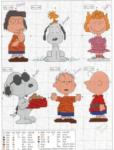 peanuts characters cross stitch patterns - Bing images
