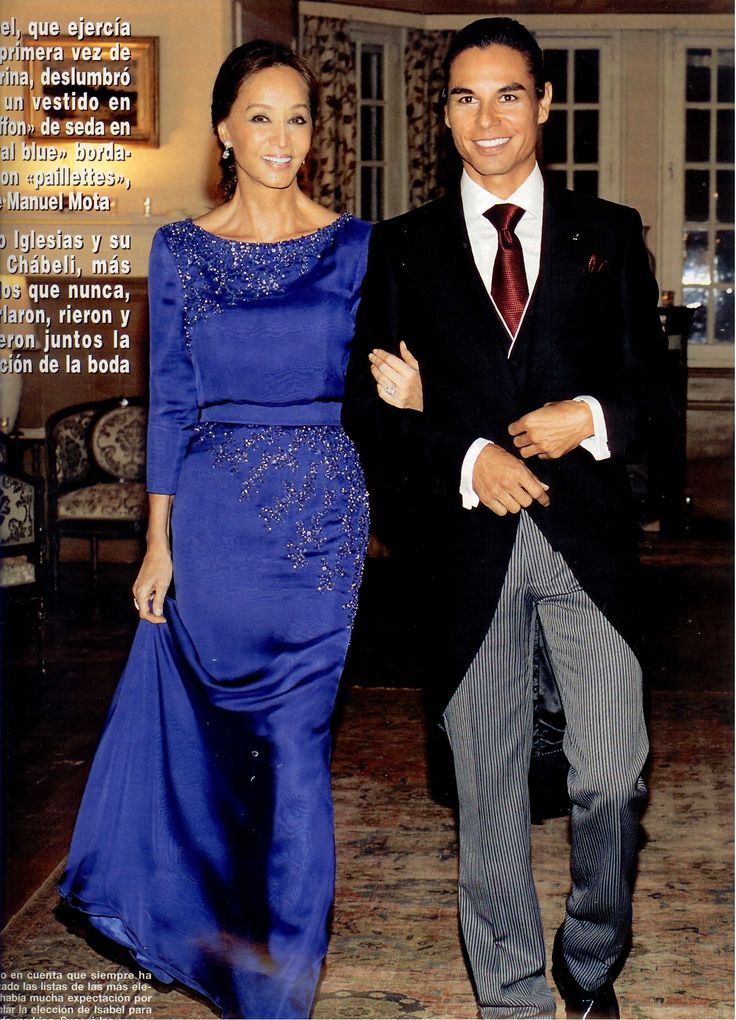 Isabel Preysler and Julio Iglesias | Isabel Preysler, una madrina espectacular, y Julio José Iglesias Jr ...