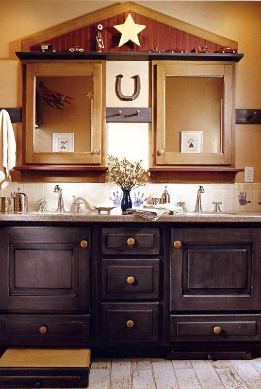 This cute children s bathroom is a little cowboy  a little Americana     Stylish Western. Best 25  Western bathrooms ideas on Pinterest   Western bathroom