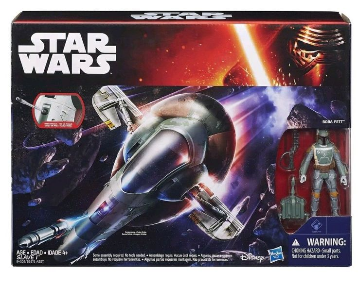 Image result for Star Wars Force Awakens Boba Fett and Slave 1 star ship Action Figure New / Sealed