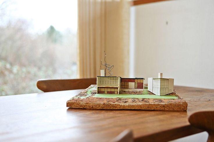 Modell av huset.