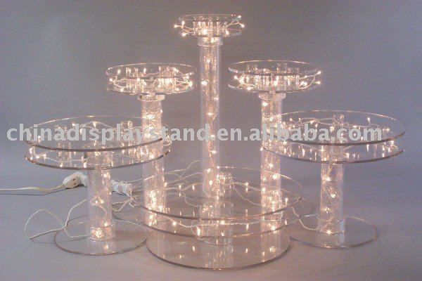 wedding cake stands to buy acrylic wedding cake display stand sets of 5 buy led 8767