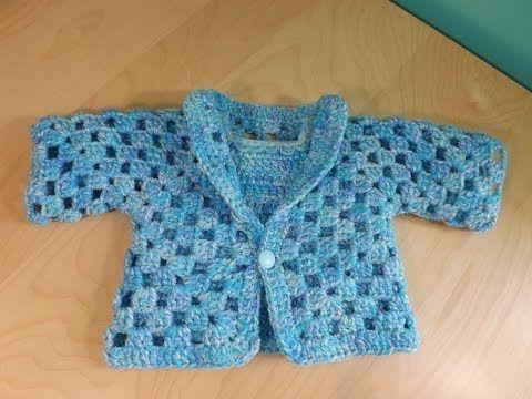 Crochet baby jacket: how to make an hexagon jacket - YouTube