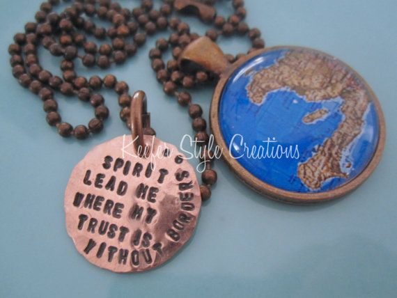Haiti Adoption Mission Map Hand Stamped by KeeferStyleCreations, $28.00