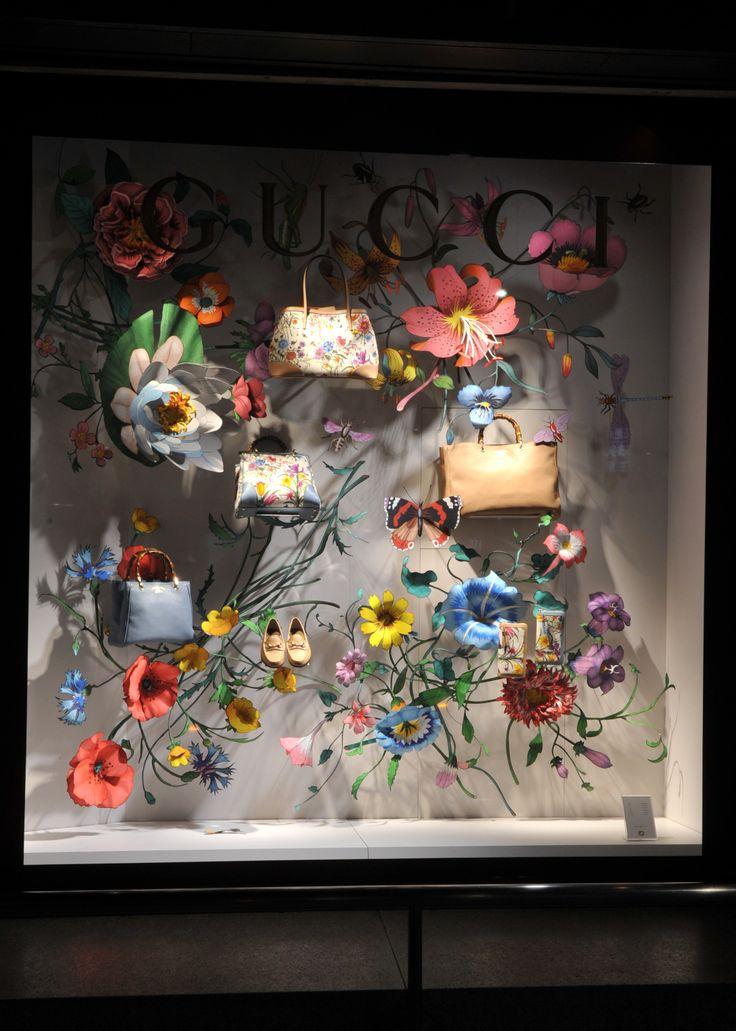 Gucci spring retail window display