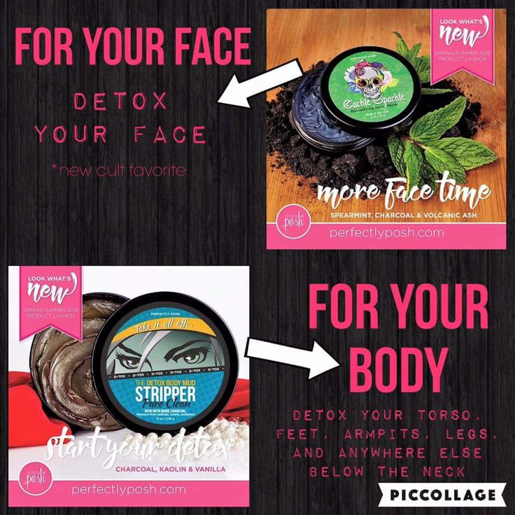 Detox your FACE and detox your BODY with Perfectly Posh ~ Cackle Spackle face mask and Stripper body mud