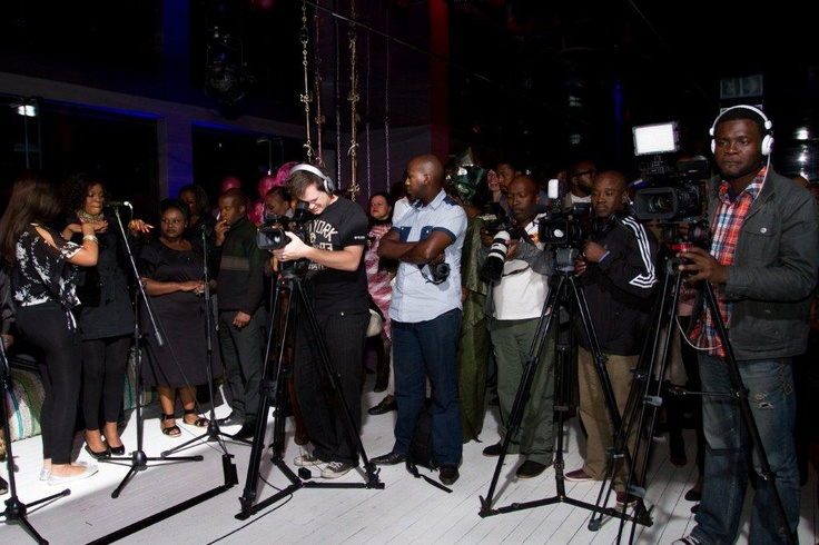 Media at the launch of the Morongwa House of African fashion. www.mhafricanfashion.co.za